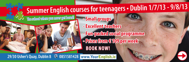 Summer English course for teenagers -  Dublin, Ireland