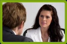 a business woman with a client - English in the workplace, Dublin