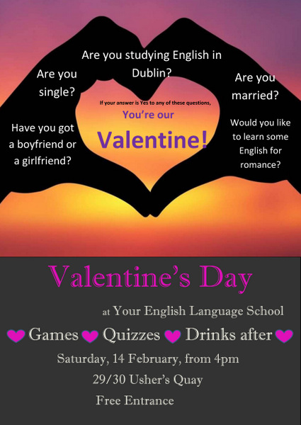 Valentine's Day at Your English Language School Full Size Poster