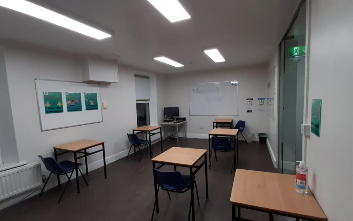 New classroom layout to allow social distancing at our school in Dublin