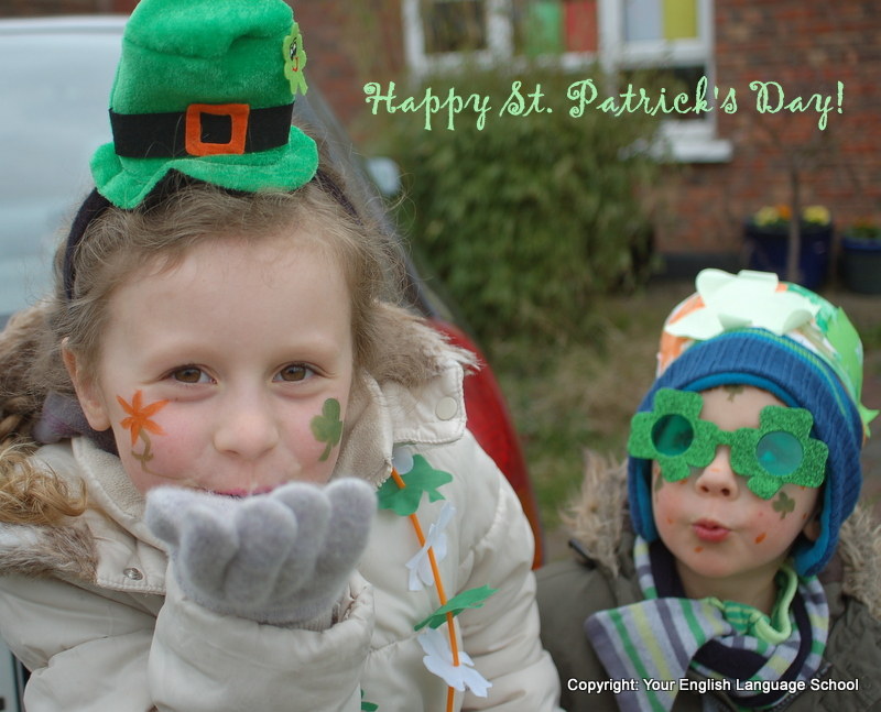 Happy St. Patrick's Day image with children