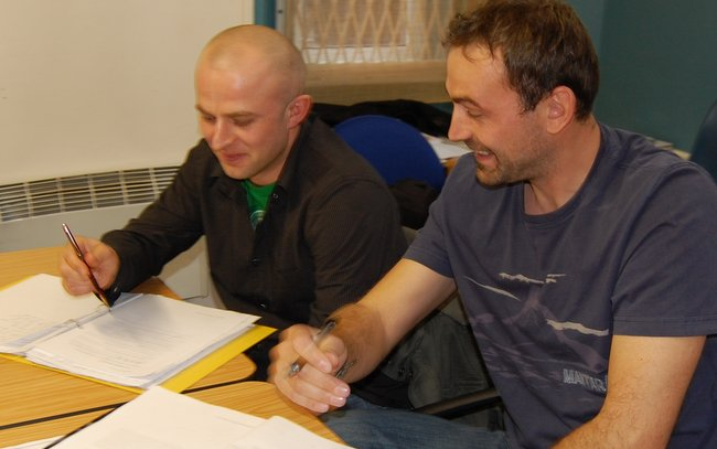 Adult students learning English in Dublin