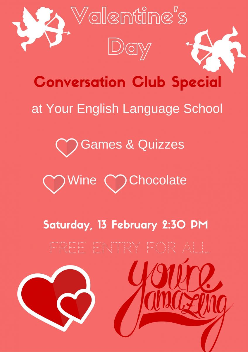 Valentine's Day at Your English Language School in Dublin - 2016