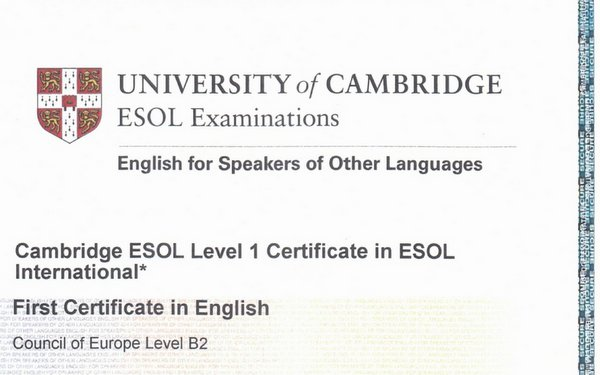 First Certificate in English from Cambridge English