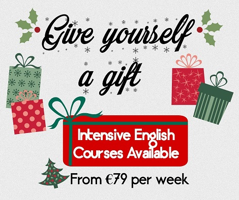Christmas-themed offer on English classes in Dublin